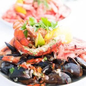 Ellis and Jones Fishmongers Greenwich Shellfish dish