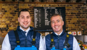 Ellis and Jones Fishmongers Owners Nick and Michael